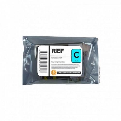 Cartouche recyclée Epson T2712 HORLOGE 27XL - Cyan - Jet d'encre