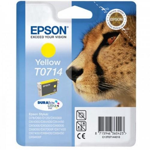 "EPSON-Cartouches-T0714-CARTOUCHE ""GUÉPARD"" - ENCRE DURABRITE ULTRA YELLOW (jaune)"